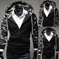 Primavera 2014 nova Camuflagem Militar Casaco Com Capuz de Lã Dos Homens Hoodies & Camisolas Pullover Jaquetas fatos de Treino M-XXL