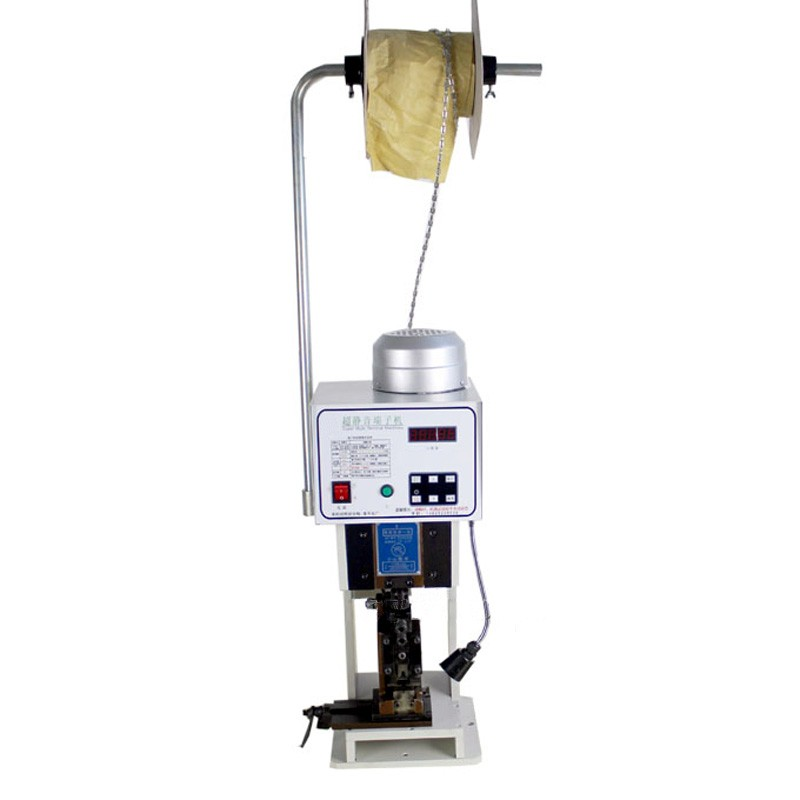 SWT508-C Computer Automatic Wire Stripping Machine + 1.5T Low noise Terminal Crimping Machine with horizontal mold low noise terminal crimping machine 1 5t with vertical mold or horizontal mold or single grain mold