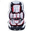 9M-12Y Cadeira de Segurança para Crianças Da Criança Do Bebê Respirável Almofada Removível Five-point Harness Auto Assento Crianças Moda Uso Ajustável