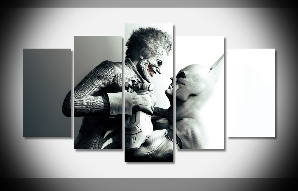 6677 batman batman arkham city joker characters Posters Framed ...