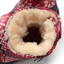 Women Christmas Deer Brand Winter Warm Antiskid Outsole Snow Boots
