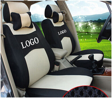 grey red beige Embroidery logo Car Seat Cover Front 2 Seat For Volkswagen polo golf Beetle fox Jetta CC with 2 Neck silk breathable embroidery logo customize car seat cover for vw volkswagen polo golf fox beetle sagitar lavida tiguan jetta cc