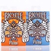 Rowerów Pluma Pomarańczowy/Niebieski Deck Karty Do Gry Standardowe Karty Poker Magiczne Sztuczki Magiczne Rekwizyty dla Profesjonalny Magik Uwalnia Statek