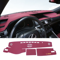 QHCP Microfiber Leather Car Dashboard Mat Anti UV Sunshade Instrument Dashmat Carpets Fit For Lexus IS250 200T 300 RC300 200 RCF