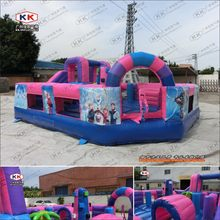 Commercial grade inflatable toy Christmas bouncy castle inflatable Bouncer with slide(China)