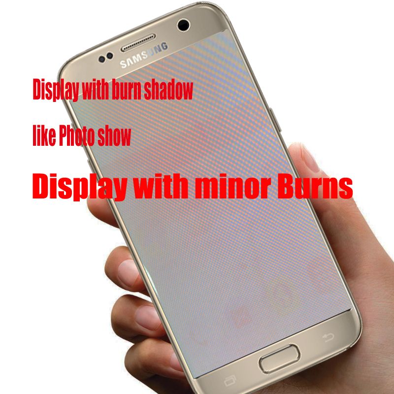 HTB11dCGaGSs3KVjSZPiq6AsiVXad 5.1'' Burn-Shadow LCD With Frame For SAMSUNG Galaxy S7 Display G930 G930F Touch Screen Digitizer Replacement With Service Pack