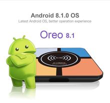 купить DJYG Android 8.1 TV Box S10 Plus Wireless charging R-TV Box RK3328 Quad core 4GB 32GB Wifi 4K H.265 USB3.0 TV Set top дешево