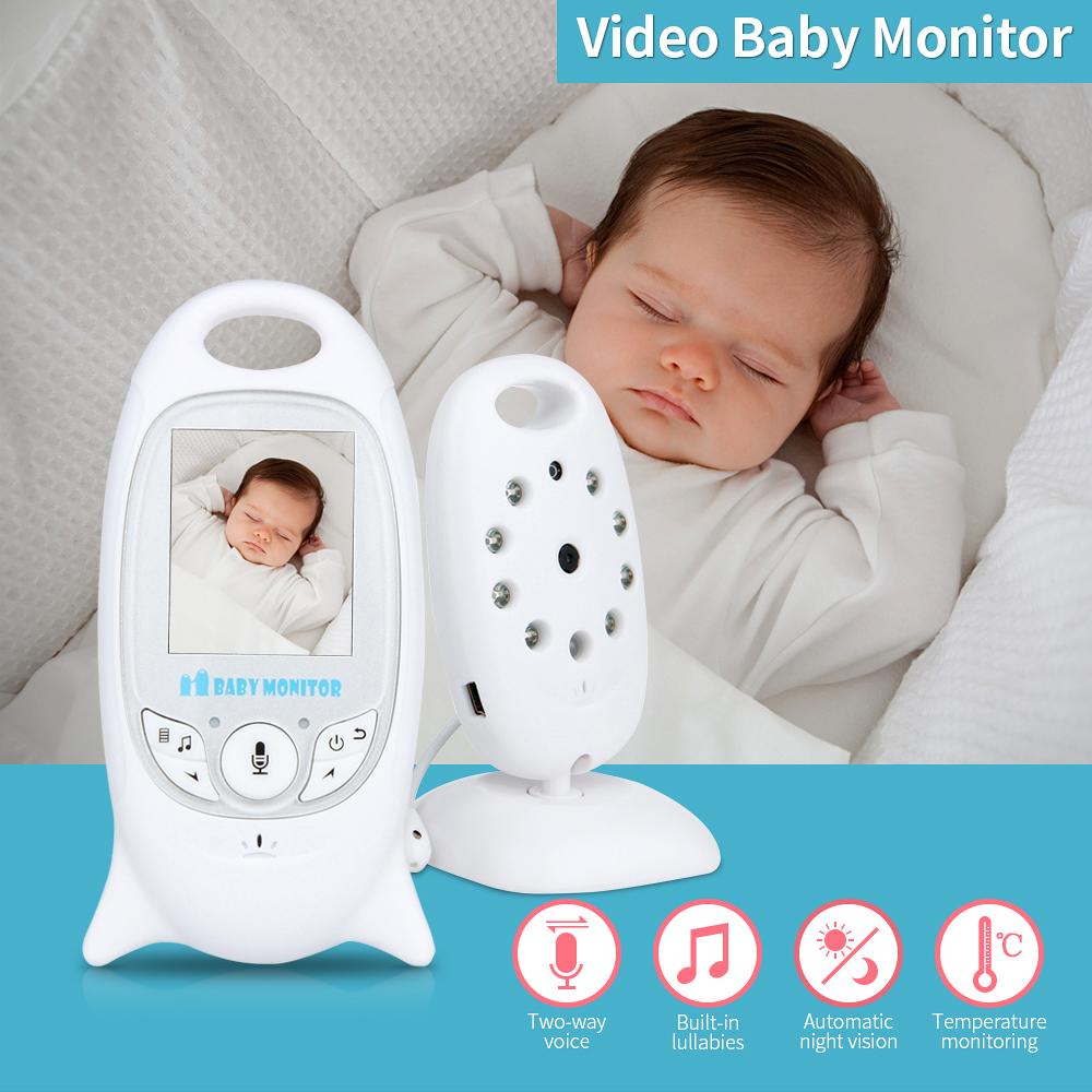 2.0 Color Video Wireless Baby Monitor Two-Way Talk Night Vision IR Night Vision Video Baby Camera with Music Temperature showcharm sc 108 video baby monitor cry warning two way talk