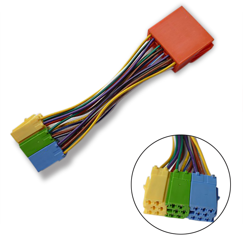 popular wire connector 20pin buy cheap wire connector 20pin lots for audi 20pin block adapter wire harness cable connector cd changer cable for audi skoda