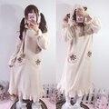 Mulheres quentes Pijamas de Inverno Espessamento Coral Fleece Roupão Feminino Projeto Longo Roupão de Flanela Sleepwear Mulheres Camisola Salão 244
