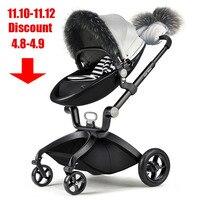 Горячая мама детская коляска Аксессуары Детская коляска крышка, перчатки, лицо. Популярный зимний хлопковый костюм для мамы и ребенка