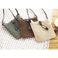 2016 Handmade Women Casual Shoulder&Crossbody Bags Rattan Beach Handbags Lady&Girls Rope Woven Bags Straw Handbag SL0386