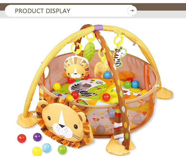 HTB11dCqXvfsK1RjSszgq6yXzpXa4 3 In 1 Baby Play Mat Round Lion Turtle Crawling Blanket Infant Game Pad Play Rug Kids Activity Mat Gym Folding  Tapete Infantil