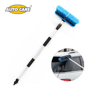 AUTO CARE Telescopic Water Through Car Wash Brush Aluminum Handle Extended To 165cm Adjust Switch 10 Inch Head For Car Truck