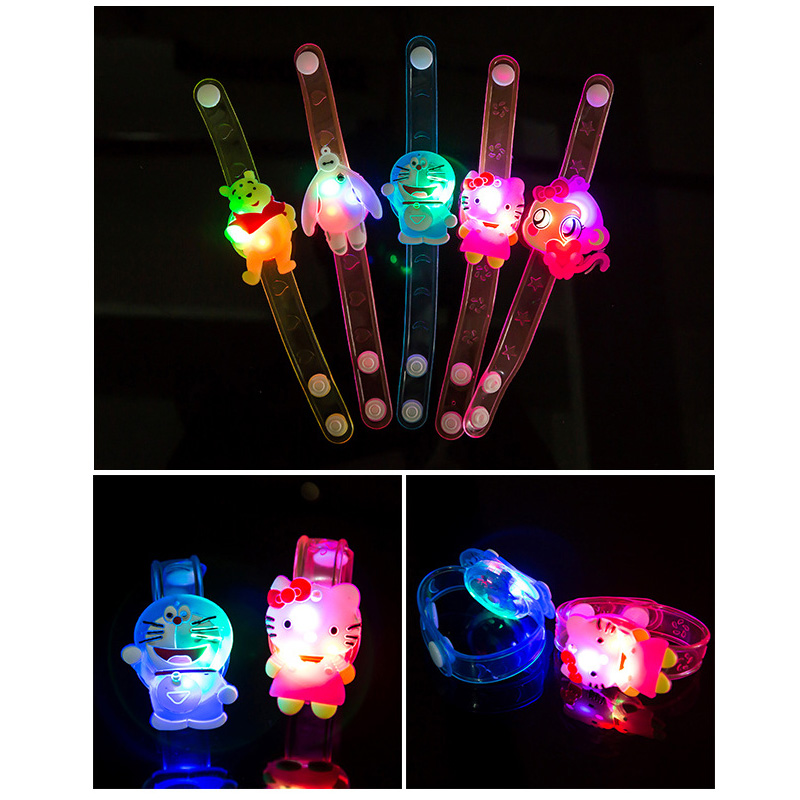 10Pcs/Lot New Creative Watch Christmas Halloween Birthday Party Flash Light-emitting Bracelet Gift Children Practical Jokes Toys