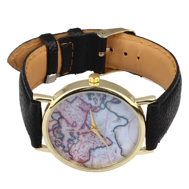 Vintage earth world map watch alloy women analog quartz wrist vintage earth world map watch alloy women analog quartz wrist watches dropshipping gumiabroncs Image collections