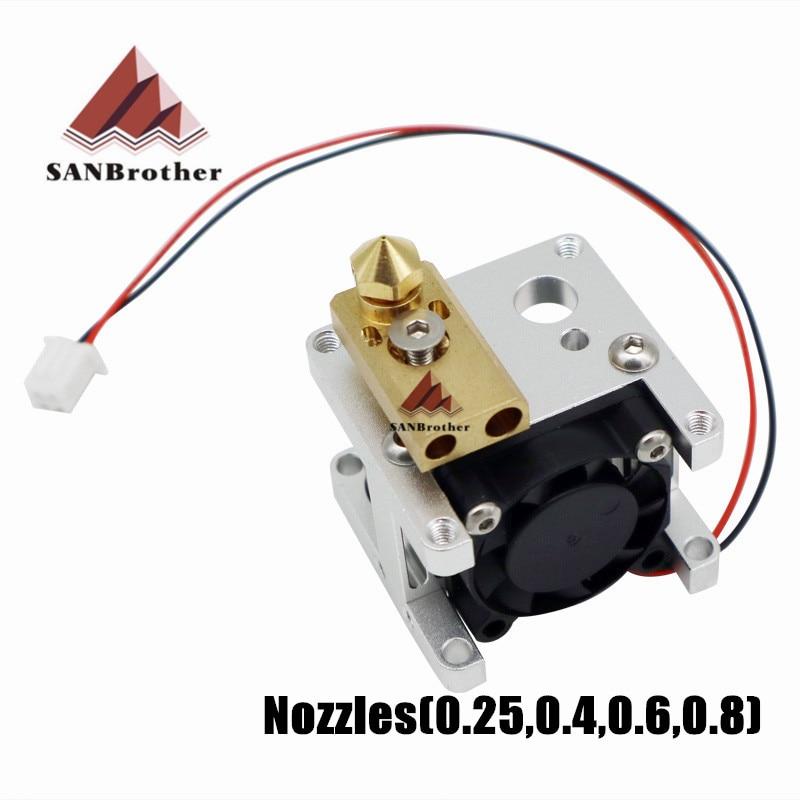 3D Printer Heating Block Ultimaker 2+UM2 Extended Olsson Block Kit interchangeable Nozzle Heat Sink Hotend 1.75/3mm Filament