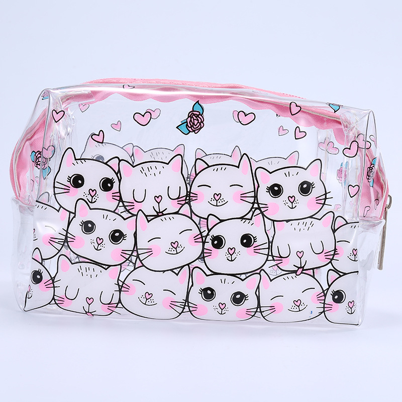 Miyahouse PVC Transparent Design Women Make Up Bag Cute Cosmetic Case For Teenager Girls Mini Beauty Organizer Pouch Jelly Bag