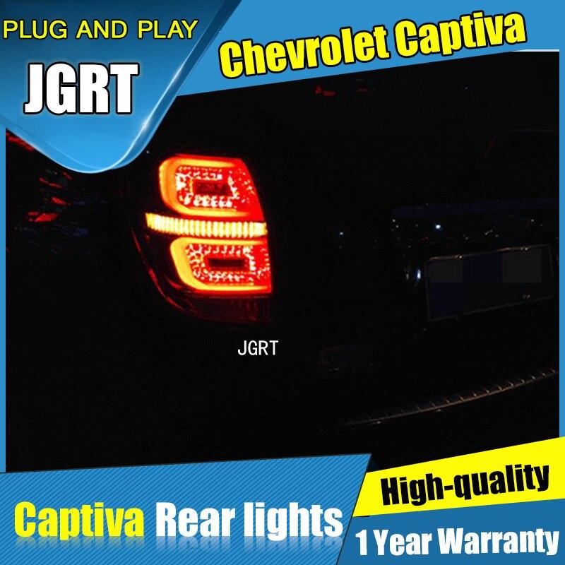 JGRT Car Styling for  Chevrolet Captiva Tail Lights 2008-2015 for Captiva  LED Tail Lamp+Turn Signal+Brake+Reverse LED light chevrolet captiva fl в москве