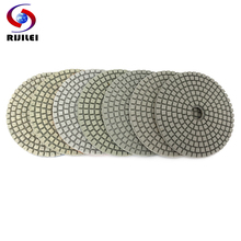 цена на RIJILEI 10PCS 4inch Diamond Polishing Pad 100mm Wet Flexible White polishing pads for Stone concrete floor Free shipping HC14