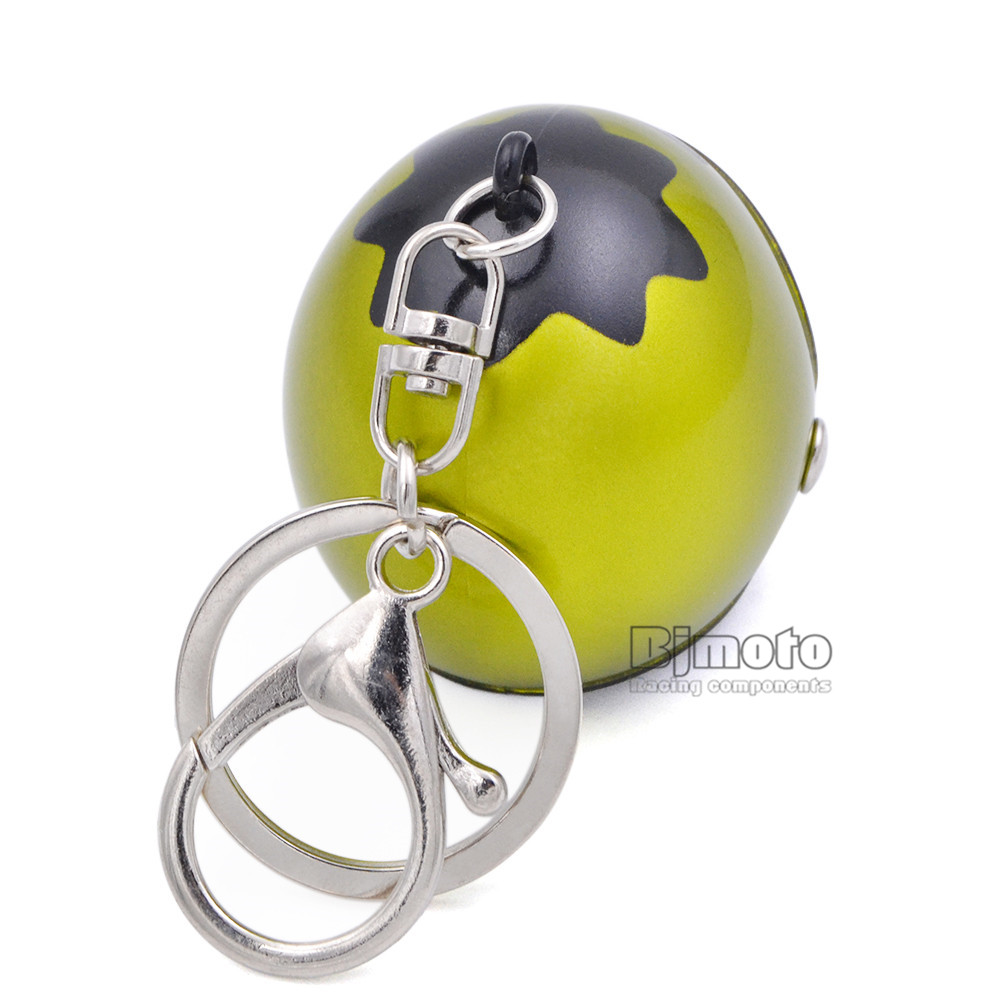 Cool Car Motorcycle Helmet Keychain Key Chains Mini Motorcycle Pendant Keyring Men Women Motorbike Accessories KC-A010 (5)