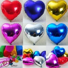 18 Heart Shape Helium Mylar Balloon, Party Decorations Foil Free Shipping 100pcs/lot
