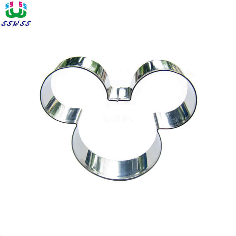 Direct Selling,A big Mouse Head Portrait Shape Cake Decorating Fondant Cutters Tools,Animation Cake Cookie Biscuit Baking Molds