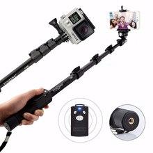 Для Gopro Hero5S 5 4S 4 3 + SJCAM SJ400 SJ5000 SJ6000 камеры Yunteng 1288 Портативный Bluetooth Телефон Selfie Палка Монопод Самостоятельная Полюс