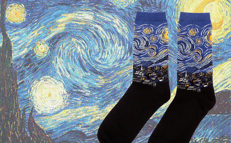 Women Mural World Famous Painting Socks