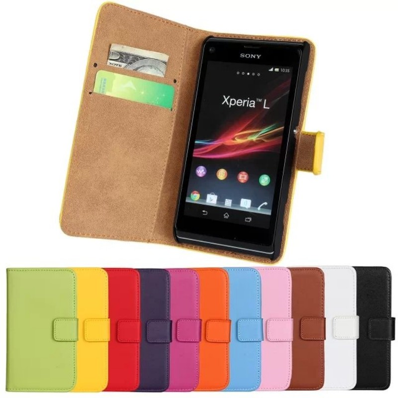 new concept 0f8a0 6453a For Sony Xperia L S36h C2105 C2104 Cases Wallet Cover Coque Capa Leather  Purse Case Etui Capinha Hoesjes Carcasa Phone Accessory-in Wallet Cases  from ...