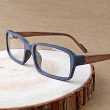 HDCRAFTER Holz Optische Gläser Rahmen Klare Linse Rezept Lesen Brillen Rahmen Frauen Männer Vintage/Retro Oculos de grau