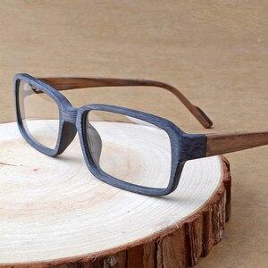 HDCRAFTER Wood Optical Glasses Frames Clear Lens Prescription Reading Eyeglasses Frame Women Men Vintage/Retro Oculos de grau(China)