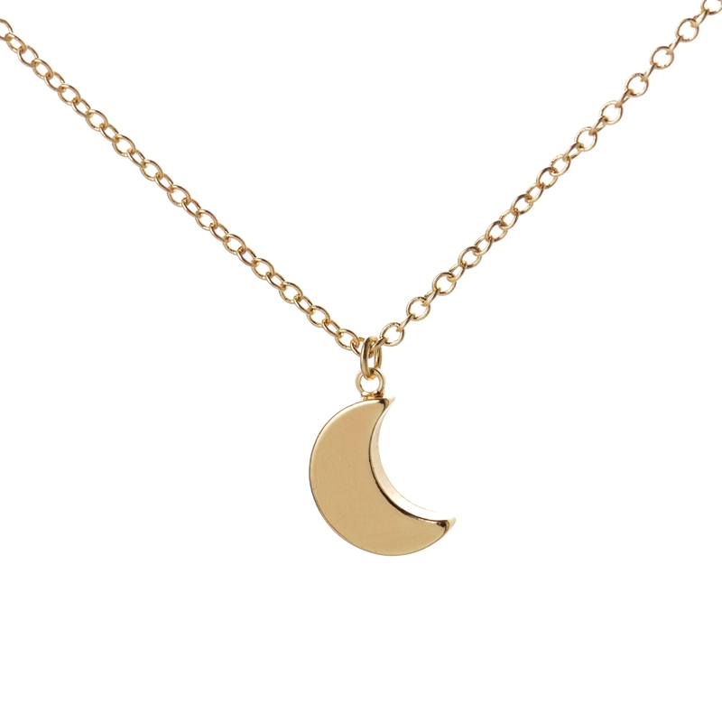 Shuangshuo 2017 New Fashion Jewelry Necklace Simple Crescent Moon Necklace Plain Half Moon Pendant Necklaces for Women Gifts