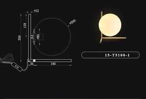 Image 5 - Modern LED Table Lamp Desk Lamp Light Shade Glass Ball Table Lamp Desk Light for Bedroom Living Room Floor Bedside Gold Designs