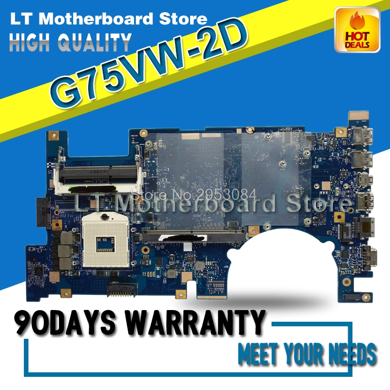 G75VW Laptop Motherboard For Asus G75VW Mainboard System Board Card Logic Board 2D Connector PGA 989 Tested S-4