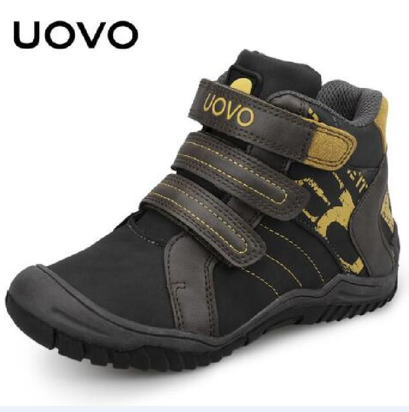 UOVO 2018 New Mid-Calf Boys Shoes Fashion Kids Sport Shoes Brand Outdoor School Children Casual Sneakers for Boys Running Shoes 2017 breathable children shoes girls boys shoes new brand kids leather sneakers sport shoes fashion casual children boy sneakers