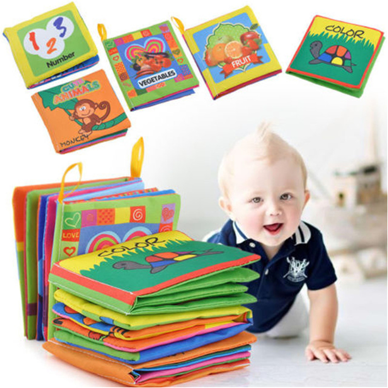 Soft Book Puzzle Early Education Tooth Tape Baby Cloth Books For Children Stuffed Plush Baby Book Early Educational Games Book