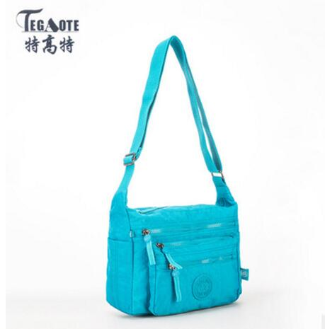 TEGAOTE Female Bags Handbags Women Famous Brand Beach Bag Nylon Small Crossbody Shoulder Bag Solid Bolsa feminina Sac A Main 931 tegaote beach bag female bags handbags women famous brand nylon messenger crossbody shoulder bag bolsa feminina sac a main 2017