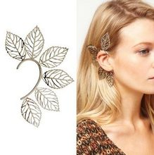 Fashion Hot Sale New Arrival Girls Silver Color Hollow Out Leaves Hook Earrings E834(China)