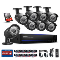 ANNKE 8CH HD 1080P HDMI DVR Indoor Outdoor CCTV Home Security Camera System 1TB