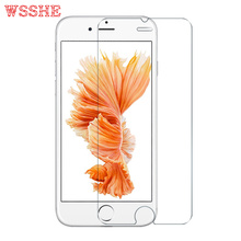 WSSHE Front or Back Tempered Glass For apple iPhone 7 4s 5 5s 6 6s plus Rear Screen Protector Anti Shatter Film Cleaning Kit 4.7