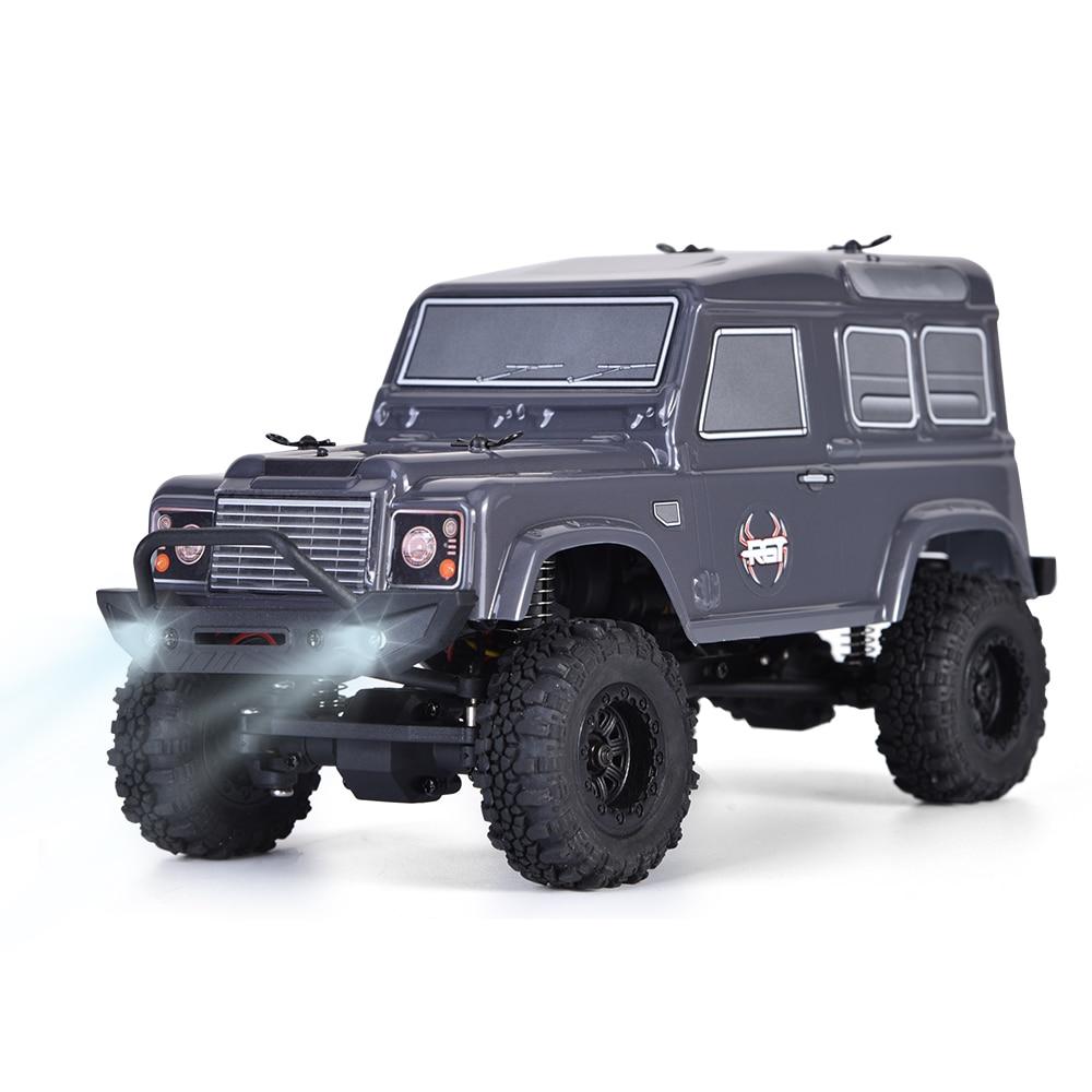 цена на RGT Rc Crawlers 1/24 Scale 4wd Off Road Rc Car 4x4 mini Monster Truck RTR Lipo Rock Crawler Adventurer D90 With Lights
