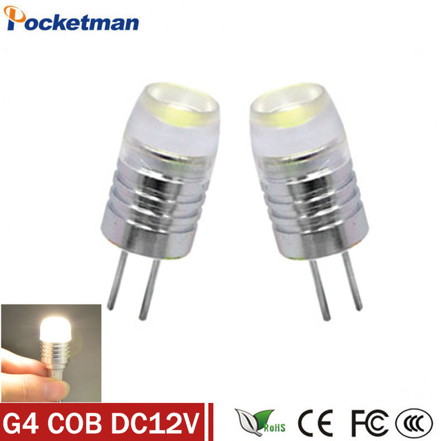 1pcs Mini G4 Led Lamp Power 3w 5w 6w Cob Light Dc Ac 12v 360 Beam Lighting For Chandelier Lights Replace Halogen G4 Lamps
