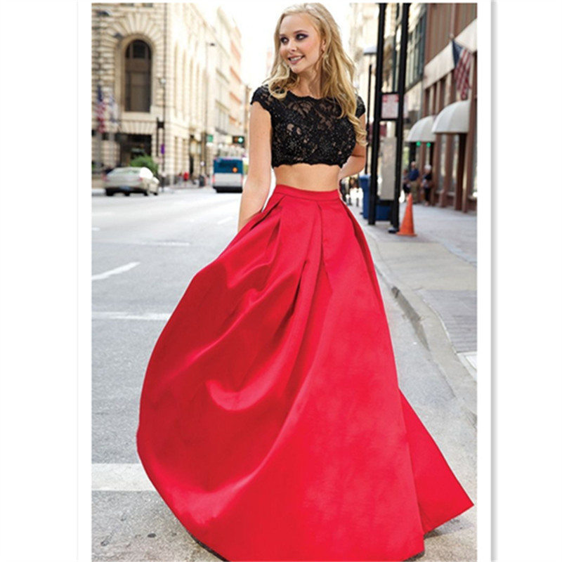 7xl Long Ball Satin Wedding Skirt 2017 Faldas Largas Women Autumn ...