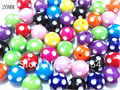 Newest !!20mm 100pcs/lot  Mix Acrylic Polka Dot Beads,Chunky Beads For Chunky Jewellery Making