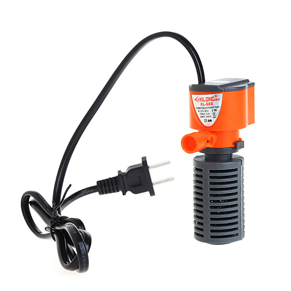 3 In 1 Silent Aquarium Filter Submersible Oxygen Internal <font><b>Pump</b></font> Sponge <font><b>Water</b></font> With Rain Spray For Fish Tank Air Increase 3/5W image