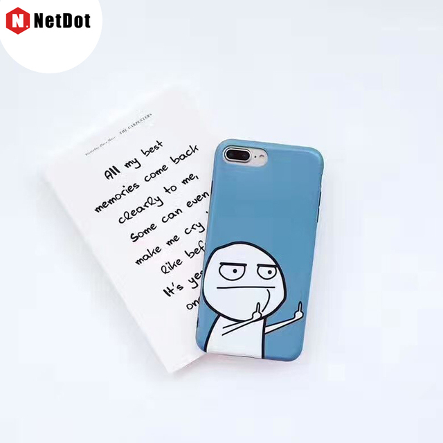 NetDot case For iPhone 7 6s 8 para Accuse I7 Coque Resentful Para Abuse I6 CAPA Wreak Phone Back Shell For iPhone 7 Plus 6 Plus