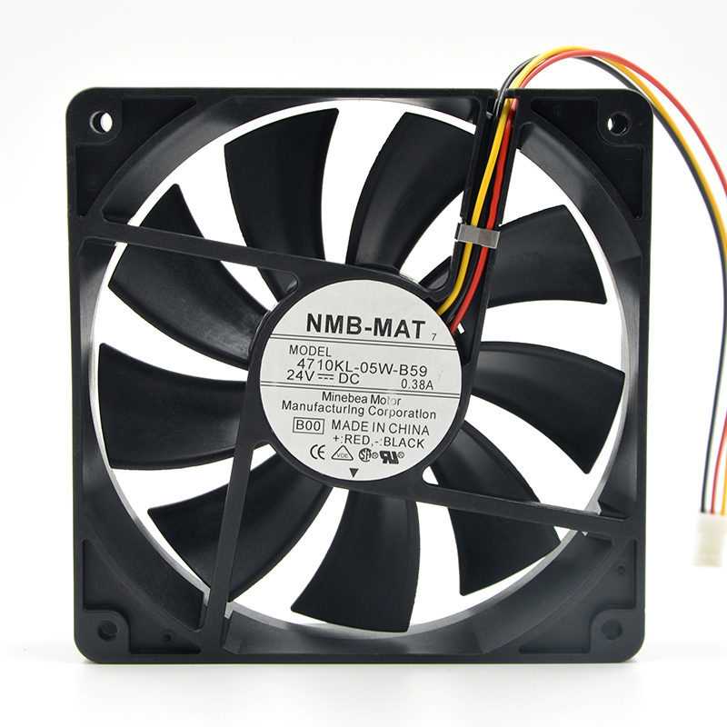 NMB 4710KL-05W-B59 12025 12CM 24V 0.38A 3-wire Detection Inverter Fan