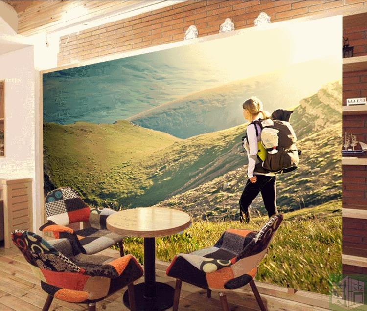 Outdoor Sports Photo Wallpaper Hiking Theme Fitness Gym Yoga Museum Travel Agency Non Woven Mural Wallpapers In From Home Improvement