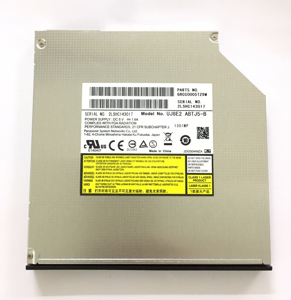 for Panasonic UJ8E2 Dual Layer 8X DVD RW RAM DL Burner 24X CD-R Writer Super Multi Laptop Internal 9.5mm SATA Tray Optical Drive